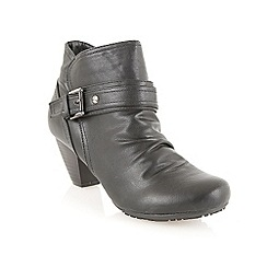 Lotus - Black matt 'Dunedin' ankle boots