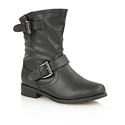 Lotus - Black matt 'Barberry' ankle boots