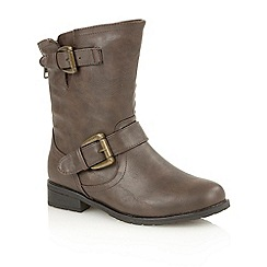 Lotus - Brown matt 'Barberry' ankle boots