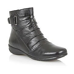 Lotus - Black 'Ption' ankle boots