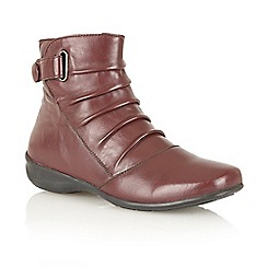Lotus - Bordo leather Piton' ankle boots