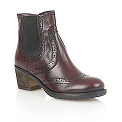 Lotus - Bordeaux leather 'Daria' ankle boots