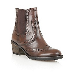 Lotus - Brown 'Daria' ankle boots