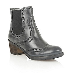 Lotus - Grey leather 'Daria' ankle boots