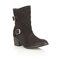 Lotus - Black leather 'Blaze' ankle boots
