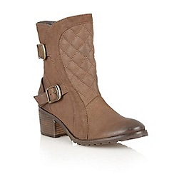Lotus - Brown leather 'Blaze' ankle boots
