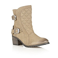 Lotus - Olive leather 'Blaze' ankle boots
