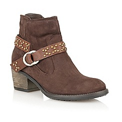 Lotus - Brown ' Kaylah' ankle boots