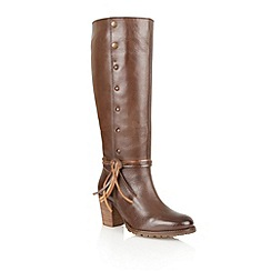 Lotus - Brown 'Swift' knee high boots