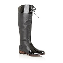 Lotus - Black leather 'District' knee high boots