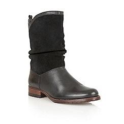 Lotus - Black 'Fizzy' calf boots