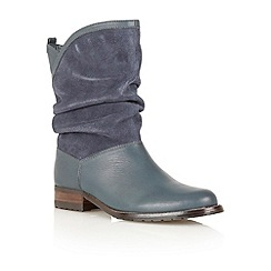 Lotus - Navy 'Fizzy' calf boots