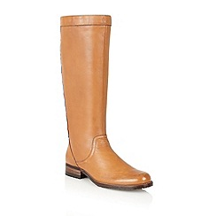 Lotus - Burnished tan 'Blizzard' knee high boots