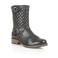 Lotus - Black leather 'Conroe' calf boots