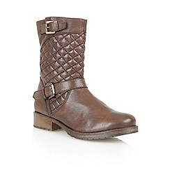 Lotus - Brown leather 'Conroe' calf boots