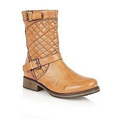 Lotus - Tan leather 'Conroe' calf boots