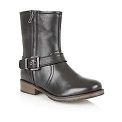 Lotus - Black leather 'Jasmina' ankle boots
