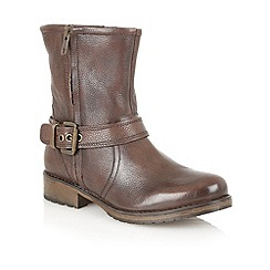 Lotus - Brown leather 'Jasmina' ankle boots
