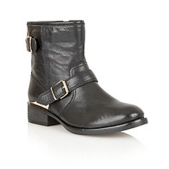 Lotus - Black leather 'Fabiola' ankle boots