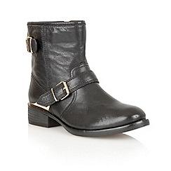 Lotus - Black leather 'Fabiola' ankle boots