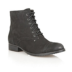 Lotus - Black Leather 'Drift' ankle boots