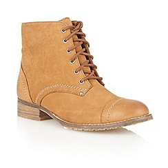 Lotus - Tan Leather 'Drift' ankle boots