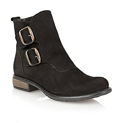 Lotus - Black leather 'Jodie' ankle boots