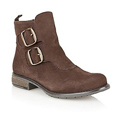 Lotus - Brown leather 'Jodie' ankle boots