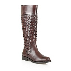Lotus - Bordo leather 'Rockford' knee high boots