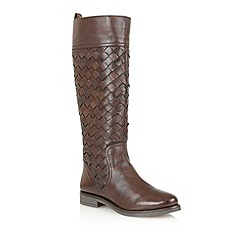 Lotus - Brown leather 'Rockford' knee high boots