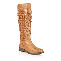 Lotus - Tan  leather 'Rockford' knee high boots