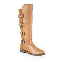 Lotus - Tan leather 'Codey' knee high boots