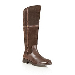 Lotus - Brown leather 'Cascade' knee high boots