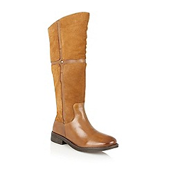 Lotus - Tan leather 'Cascade' knee high boots