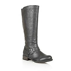 Lotus - Black 'Myla' ankle boots