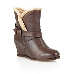 Lotus - Brown leather 'Cove' ankle boots