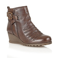 Lotus - Brown leather 'Division' ankle boots