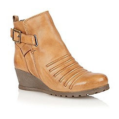 Lotus - Tan leather 'Division' ankle boots