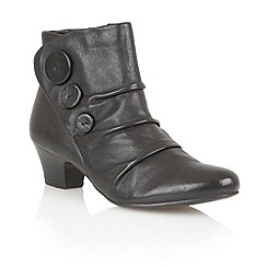 Lotus - Black leather 'Brisk' ankle boots