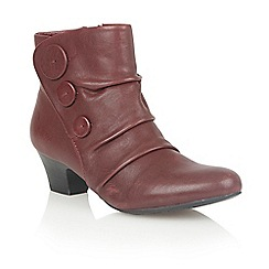 Lotus - Bordeaux leather 'Brisk' ankle boots