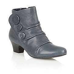 Lotus - Navy leather 'Brisk' ankle boots