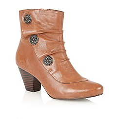 Lotus - Brown leather 'Forest' ankle boots
