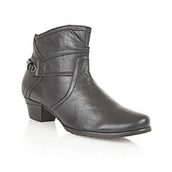 Lotus - Black leather ' Wonder' ankle boots