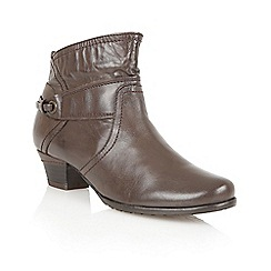 Lotus - Brown leather 'Wonder' ankle boots