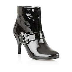 Lotus - Black shiny 'Extreme' ankle boots