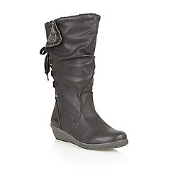 Lotus - Black ' River' calf boots