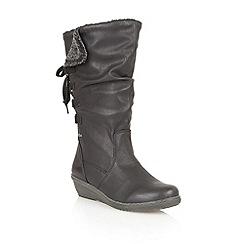 Lotus - Black ' River' calf boots