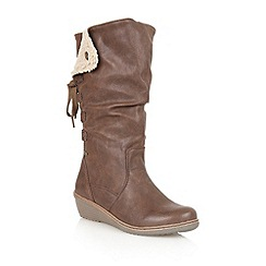 Lotus - Brown ' River' calf boots