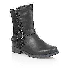 Lotus - Black Matt ' Rink' ankle boots