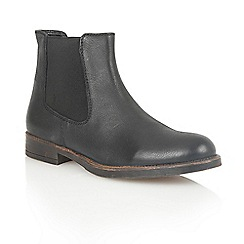 Lotus - Black leather 'Falcon' ankle boots